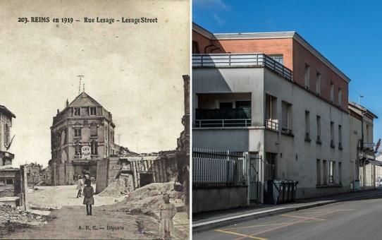 La rue Lesage en 1919