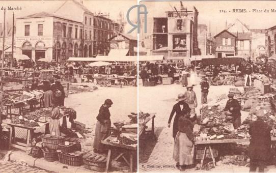 La Place des Marchés pendant la Reconstruction
