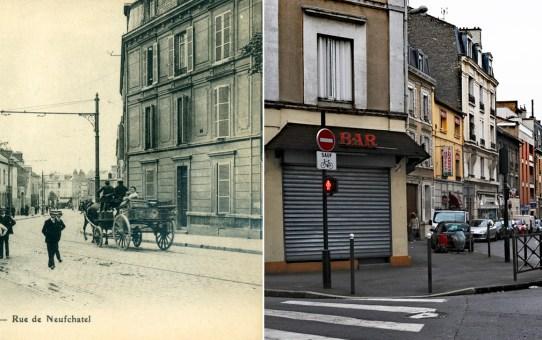 Rue de Neufchâtel, actuelle rue Emile Zola