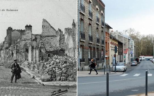 La rue de Soissons en 1919