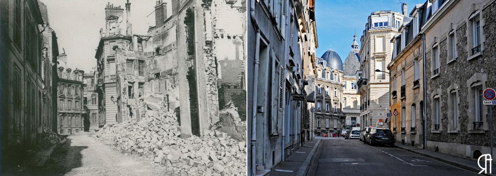 La rue  des Boucheries vers la rue Thiers