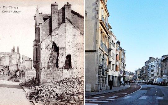 Rue Chanzy après la Grande Guerre