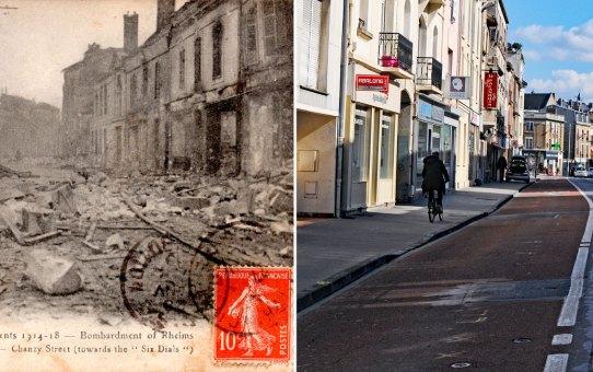 Rue Chanzy à la fin de l'année 1918