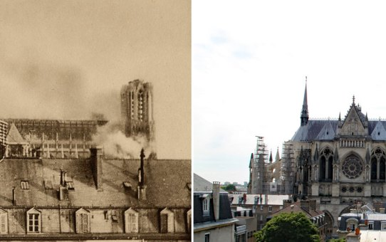L'incendie de la Cathédrale de Reims le 19 septembre 1914