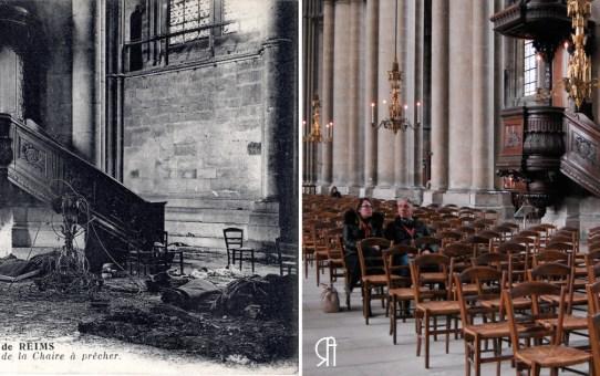 La chaire de la Cathédrale pendant la Grande Guerre