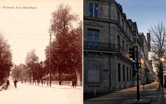 Angle de la rue Thiers et du boulevard Foch