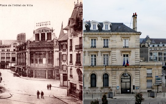 Place de l'Hôtel au moment de la Reconstruction