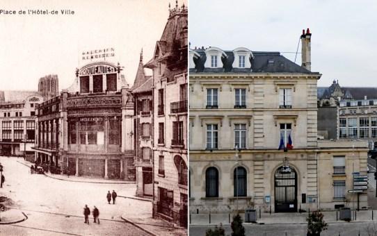Place de l'Hôtel au moment de la Reconstruction