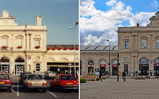 La gare avant le Tramway et maintenant