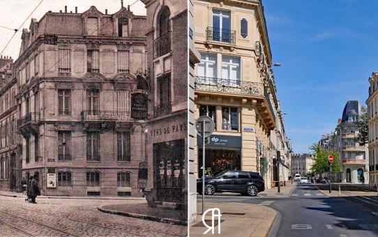 Angle de la rue Thiers, de la rue de Talleyrand et de la rue de la Tirelire