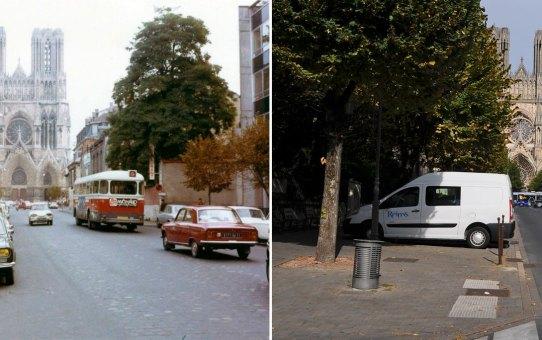 1973 : la rue Libergier et la cathédrale
