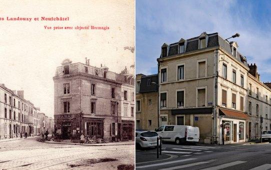 Carrefour des rues  Landouzy, Émile Zola et Pierret