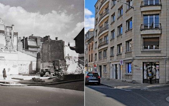 Julien Damoy, angle des rues Cérès et Général Baratier
