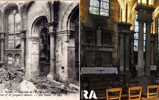 L'église Saint-Jacques après la Grande Guerre