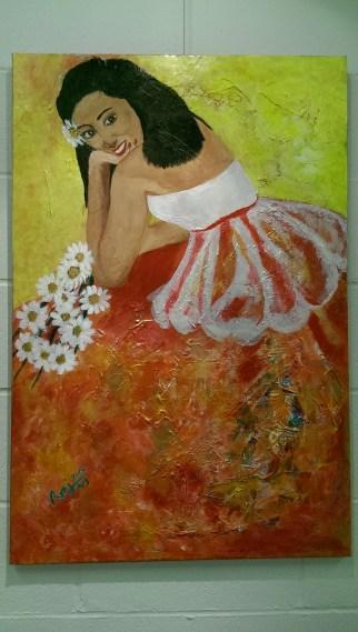 Acrylic on Canvas, La Puerta Del Sol, size: 24x30, $250.00