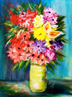Chaos to bloom 1, size: 12x16,$135