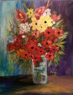 Chaos to bloom 1, size: 12x16,NSF