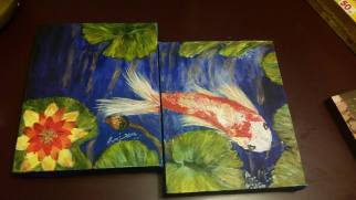 Acrylic on Canvas, Blue Tranquility2, size: 8x10 (2 pieces), sold