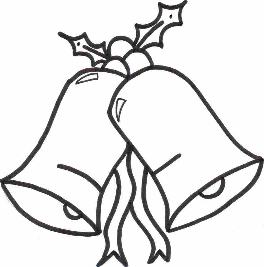 free christmas bells coloring sheet