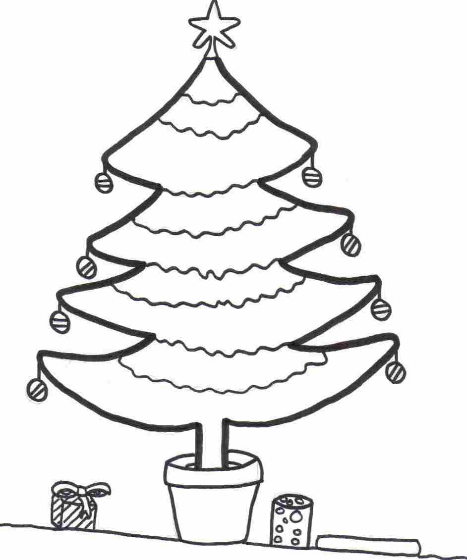 free xmas tree coloring sheet