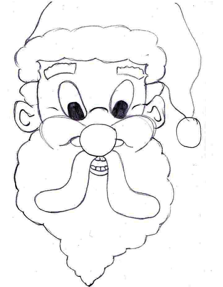 free coloring pages of santa face