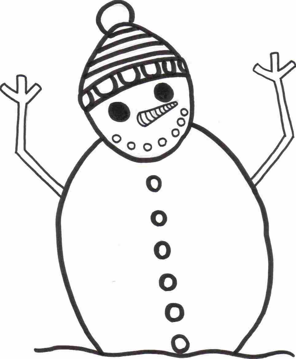 printable scary snowman coloring sheet