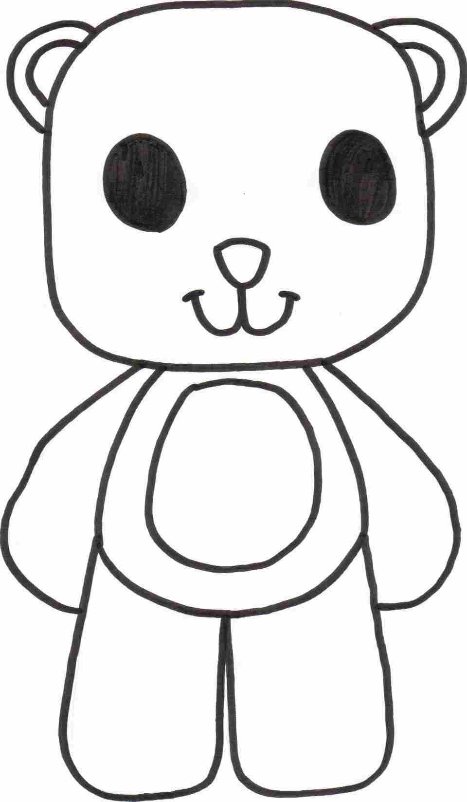 free teddy bear coloring sheet