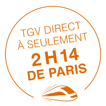 à 2h14 de paris en TGV