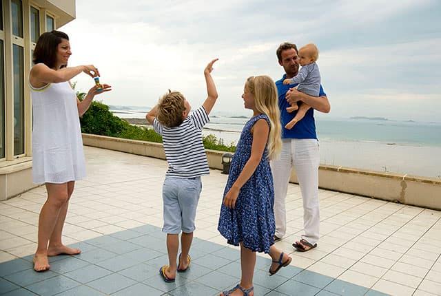 Vacances en famille à la mer