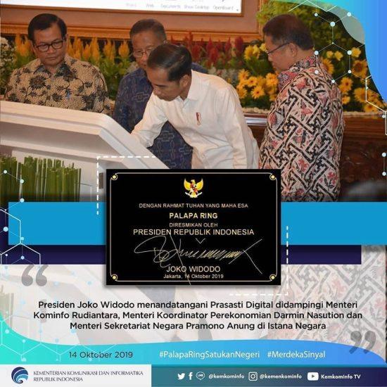 Presiden Jokowi Resmikan Operasi Palapa Ring
