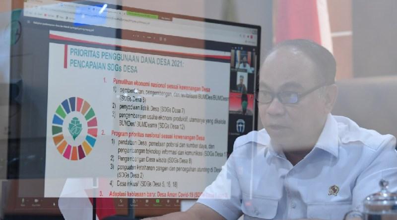 Wamen PDTT Memaparkan Prioritas Penggunaan Dana Desa 2021