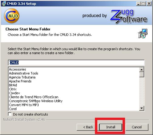 Cómo instalar ZMud o CMud - Paso 12