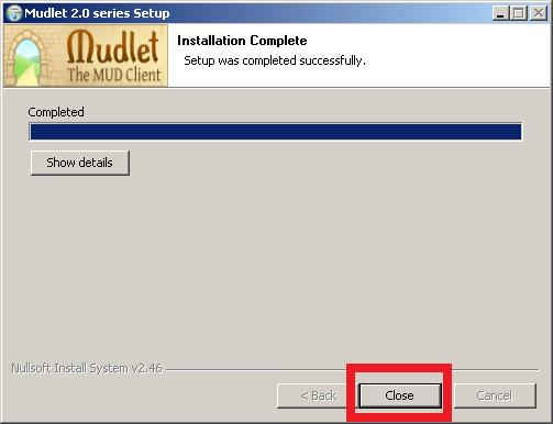 Cómo instalar Mudlet - Paso 6