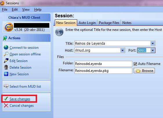 Cómo conectarse con ZMud o CMud - Paso 3