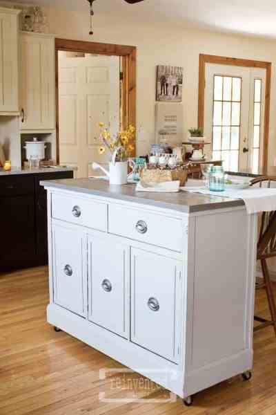 Vintage Buffet Kitchen Island