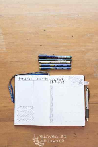 Bullet Journal Setup | March 2019