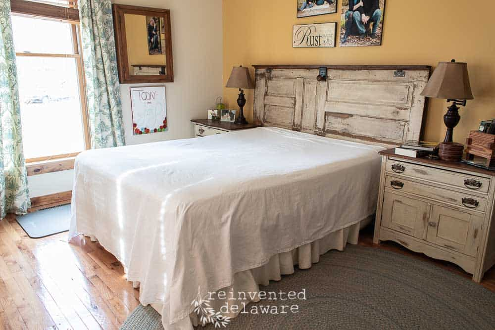 bed made with cotton sheets from Red Land Cotton