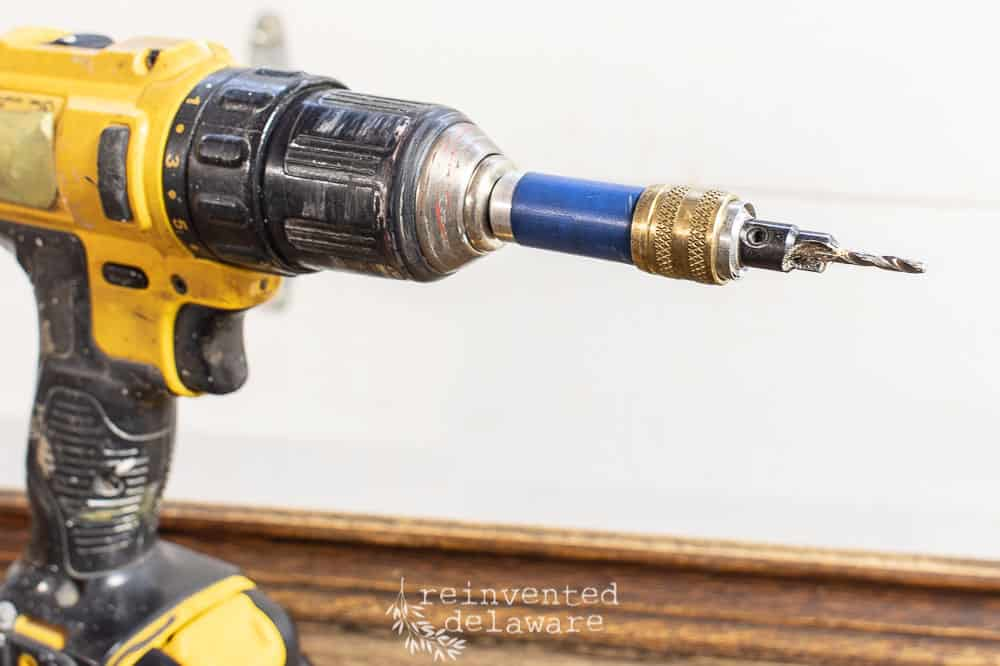 power drill with countersink drill bit