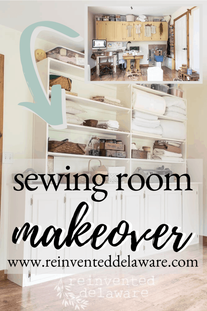 Ready to see the reveal of my sewing room makeover? You are in for a treat because today it is in working order! I am so excited to share it with you! #diyhomeprojects #roommakeover #sewingcommunity