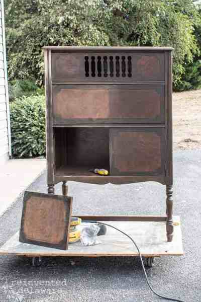 Antique Furniture Makeover | Radio Cabinet