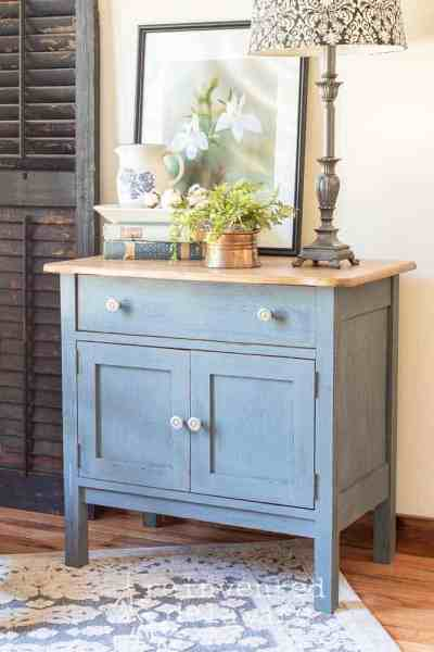 Furniture Painting Idea | Two-Tone Denim Look