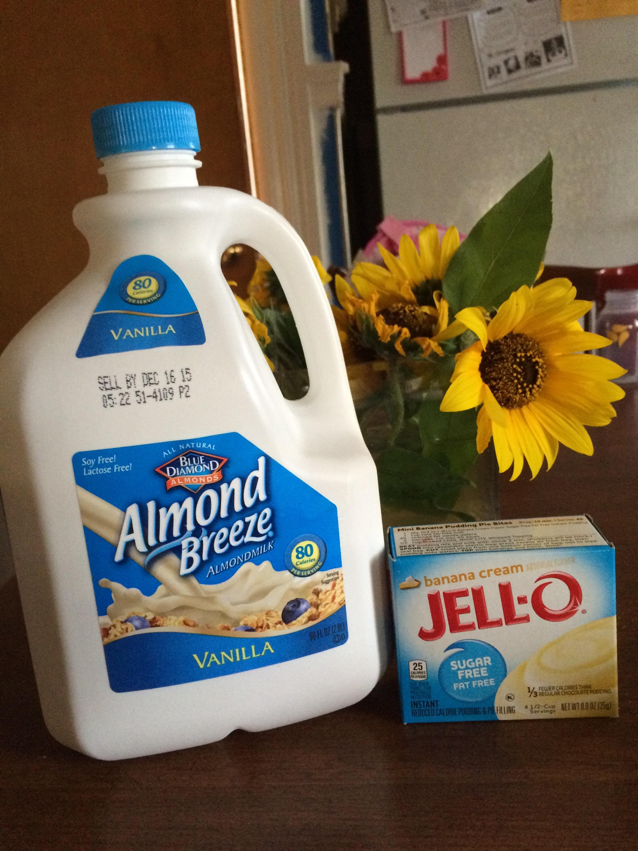 Can i make banana pudding with almond milk