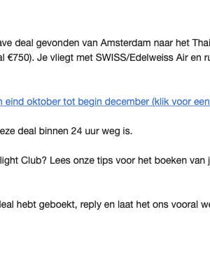 Voordelige vliegtickets: Secret Flight Club