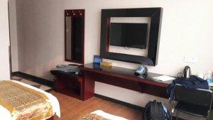 Flachbildfernseher im Hotelzimmer