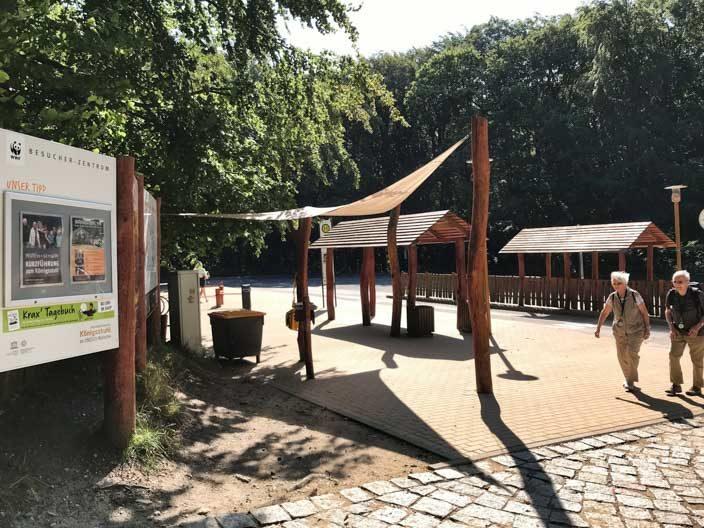 Kreidefelsen Rügen: bushalte bij het bezoekerscentrum Königsstuhl