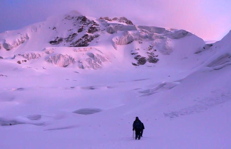 Schneesturm am Huayna Potosi