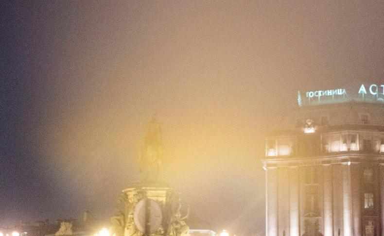 Nebel über St. Petersburg