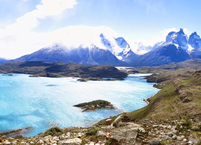Gletscher, Gipfel und Guanakos