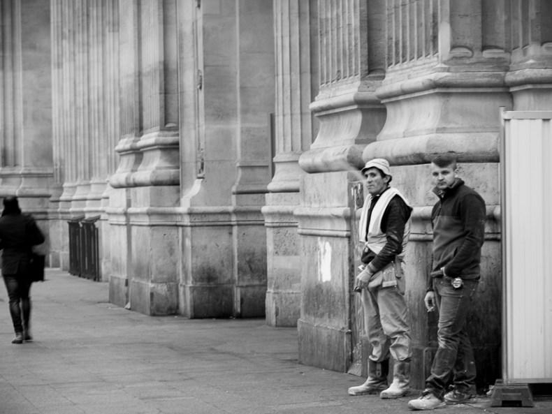 Die Raucher von Paris {schwarz & weiß}