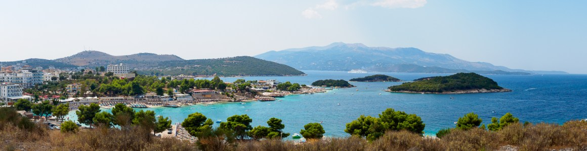 Ksamil aan de Albanese kust